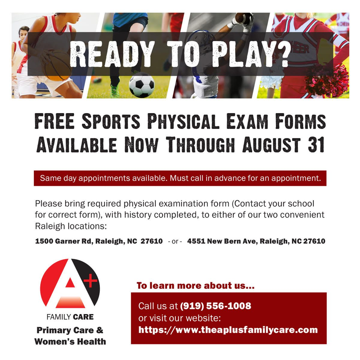 sports physical form nc  FREE Sports Physical Forms – Medical Care for Children ...